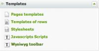 Templates : WYSIWYG toolbars