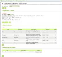 Application management window
