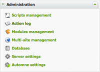 Adminstration : activity logs