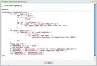 Javascript file edition