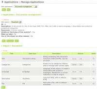 Application : Documents management